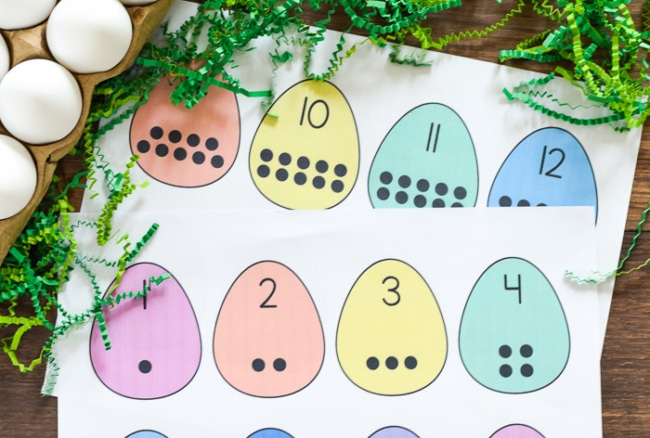 Easter Egg Counting Printable