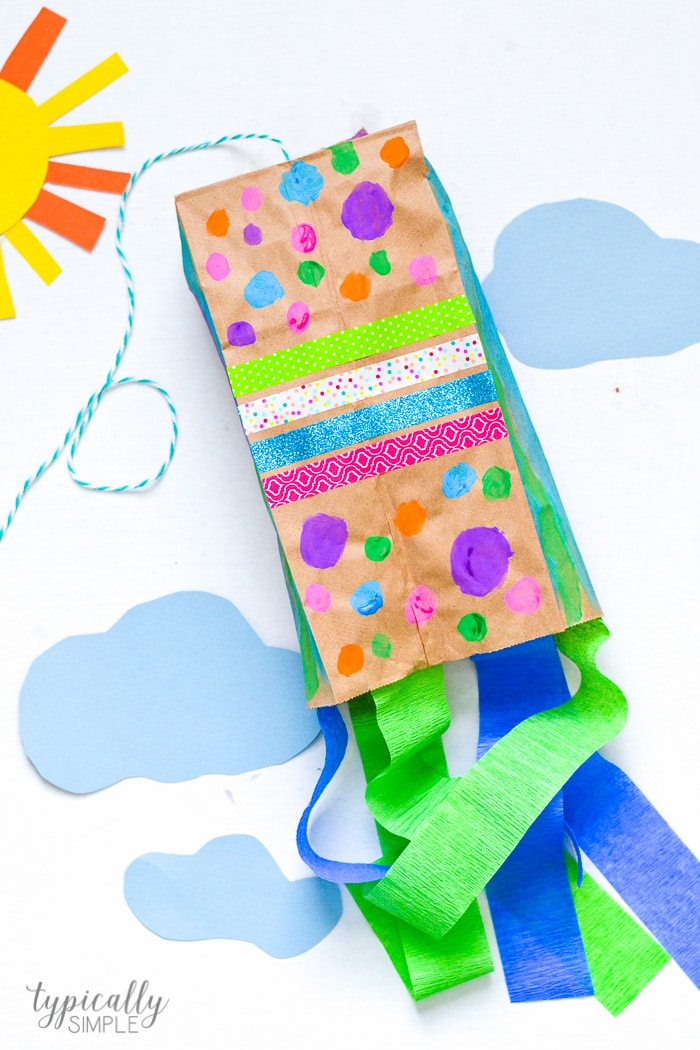 Kids Craft: DIY Paper Kite - Happiness is Homemade | 1050x700