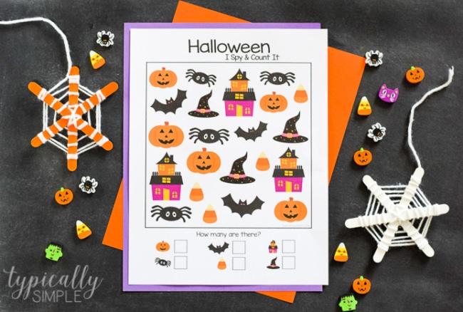 Halloween I Spy & Count It