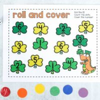 St. Patrick's Day Math Printable: Roll and Cover Shamrocks