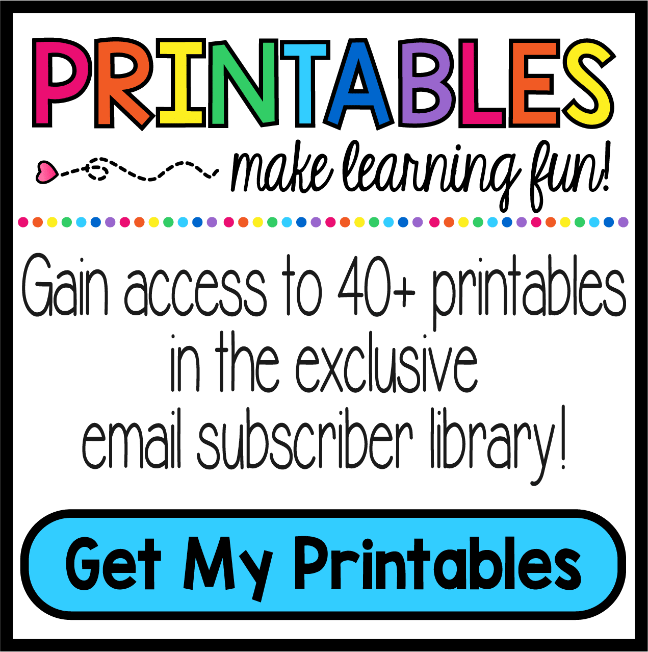subscribe button for library of printables